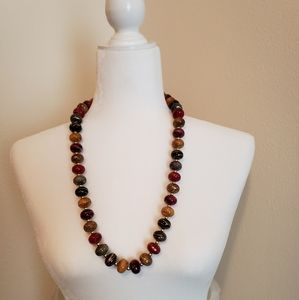 Decorative multi-colored beaded necklace